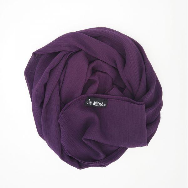 Dark purple scarf