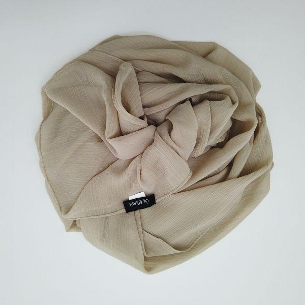 Sand beige scarf