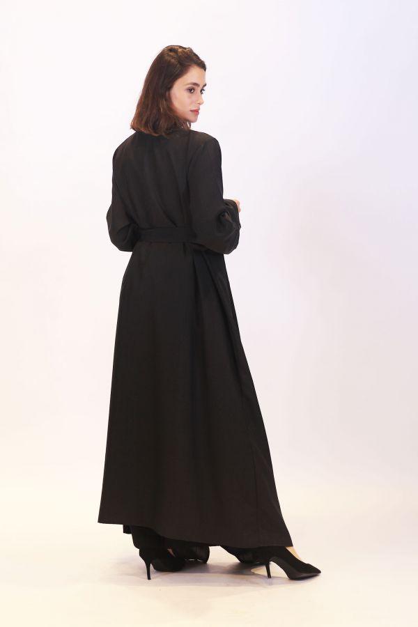 Linen Black Waterfall Cardigan