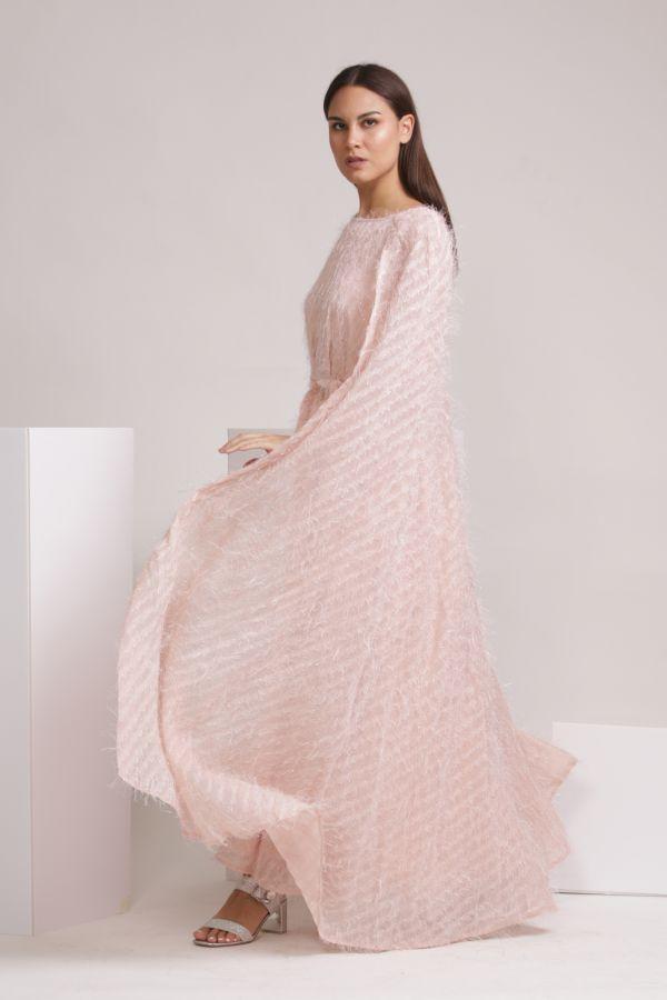 Pink Cape Dress